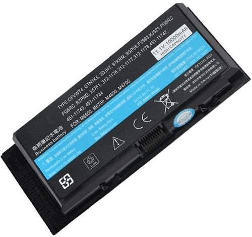Dell  6600 mAh Precision m6600 Laptop Battery