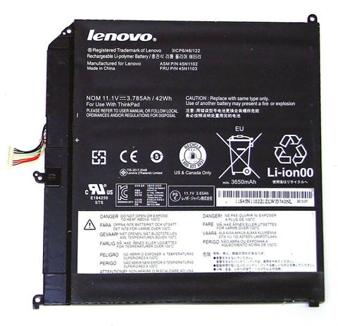Lenovo  42Wh Thinkpad x1 Helix Series Laptop Battery