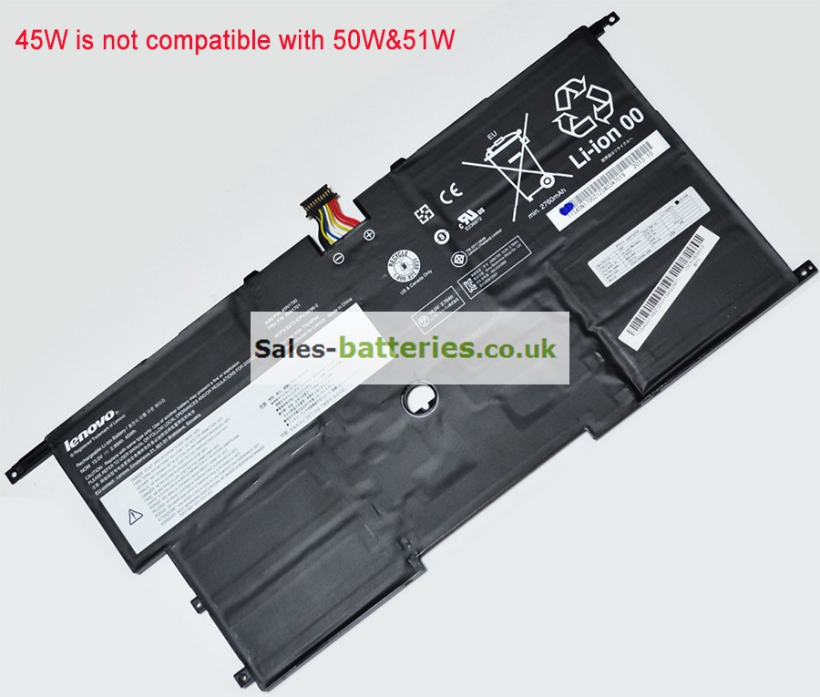 Lenovo  3050mAh Thinkpad x1 Carbon Gen 2 Laptop Battery