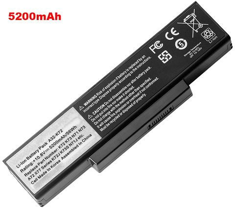 Asus  4400mAh k73e-ty080v Laptop Battery