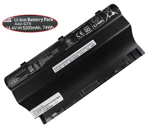 Asus  5200mAh g75vw-qs71-Cbil Laptop Battery