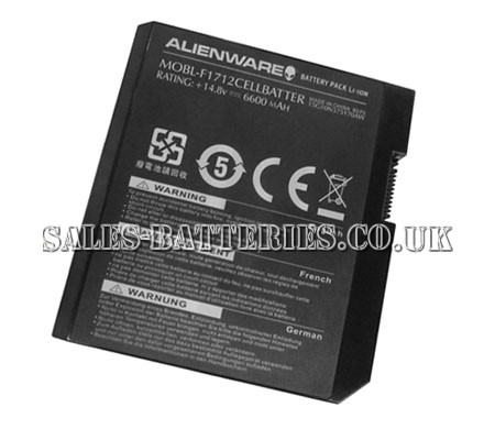 Dell  6600mAh Alienware m17x10-1813dsb Laptop Battery