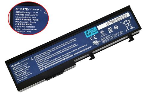 Acer  66Wh as10a7e Laptop Battery