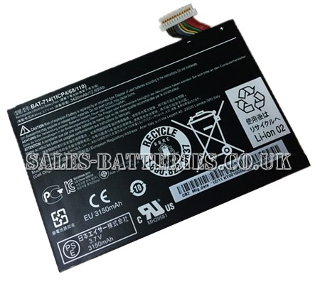 Acer  3420mAh Iconia Tab a110 Laptop Battery
